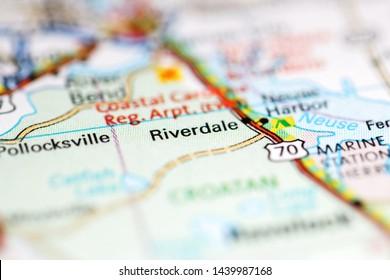 Riverdale. North Carolina. USA on a geography map