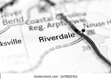 Riverdale. North Carolina. USA on a map