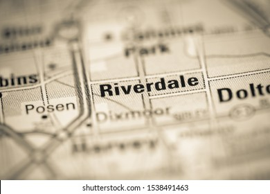 Riverdale on a map of the United States of America