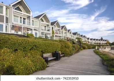 Riverfront real estate in Vancouver Washington.