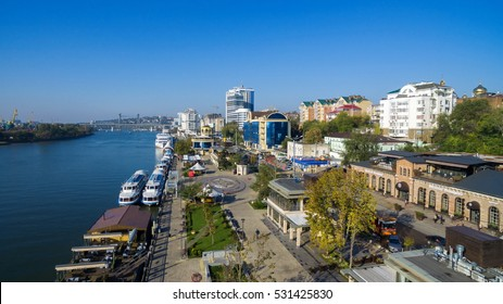 Riverport on the waterfront. Rostov-on-Don. Russia