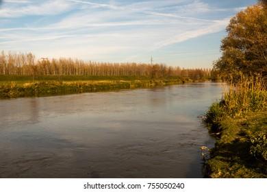 riverside, autumn, nature