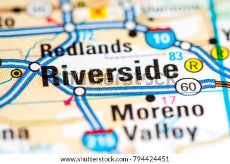 Riverside California USA On Map Stock Photo (Edit Now) 794424451 ...