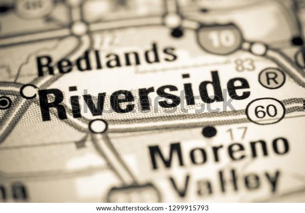Riverside California Usa On Map Stock Photo (Edit Now ...