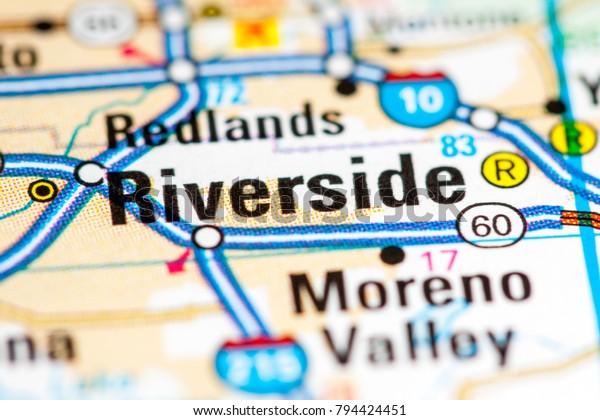 Riverside California Usa On Map Stock Photo (Edit Now) 794424451