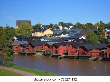 Riverside of old town Porvoo