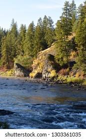 Riverside State Park in Spokane WA Fall season