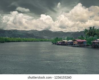 Riverside in Sumatra, Indonesia