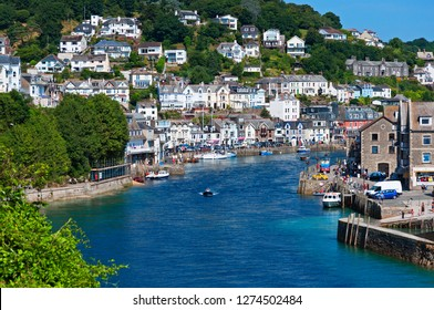 the riverside town of looe in south east cornwall, england, britain, uk.