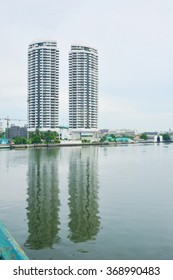 riverside twin building in Bangkok thailand