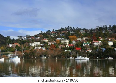 Riverside view, Tasmania.