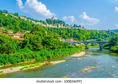 Riverside of Yantra river in Veliko Tarnovo, Bulgaria