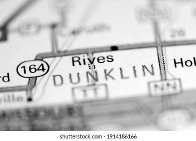 Rives. Missouri. USA on a geography map