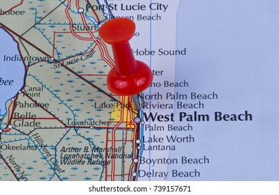Map Of West Palm Beach Florida.Cocoa Beach Florida Brevard County United Stock Photo Edit Now