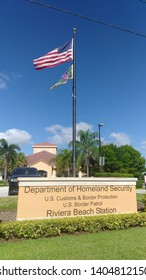 Riviera Beach, Florida, USA  05/21/2019 9:53 am  US Department of Homeland Security, US Customs and Border Protection, US Border Patrol, Riviera Beach station.  View of the US Department of Homeland S