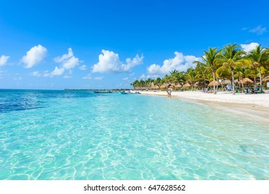 Riviera Maya - paradise beaches at Cancun, Quintana Roo, Mexico - Caribbean coast - tropical destination for vacation