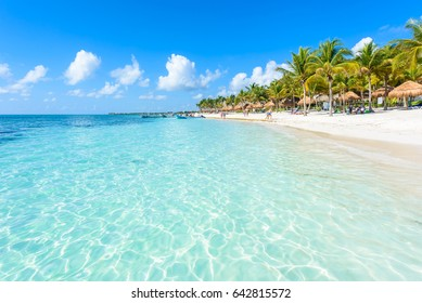Riviera Maya - paradise beaches in Quintana Roo, Mexico - Caribbean coast - tropical destination for vacation