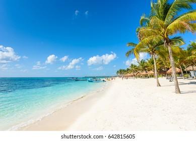 Riviera Maya - paradise beaches in Quintana Roo, Mexico - Caribbean coast - tropical destination for vacation