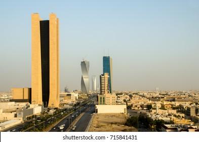 Riyadh City Over View. King Fahd Road