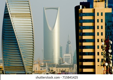 Riyadh City Over View. Kingdom Tower