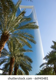 RIYADH - DECEMBER 22: Kingdom tower on December 22, 2009 in Riyadh, Saudi Arabia. Kingdom tower is a business and convention center, shopping mall and one of the main landmarks of Riyadh city