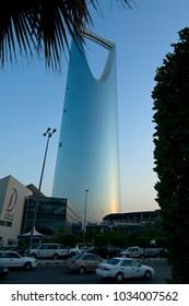 RIYADH - October 21: Al Mamlaka Tower Skyscaper and Surroundings on October 21, 2007 in Riyadh, Saudi Arabia.