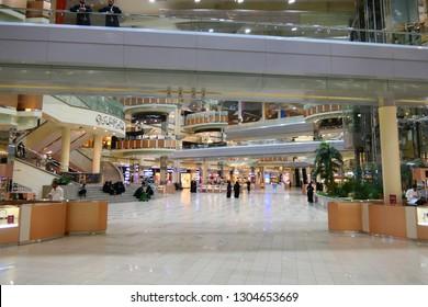 RIYADH, SAUDI ARABIA – DECEMBER 18, 2018: The shopping mall within the Kingdom Centre