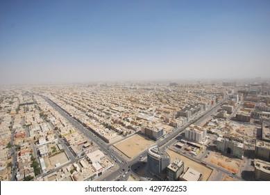 RIYADH, SAUDI ARABIA - FEBRUARY 2, 2011:  A view of Riyadh City from KIngdom Tower