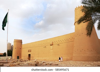 Riyadh, Saudi Arabia - February 22, 2017: Al Masmak Fort was a fortress of the founder of Saudi in the 1900s and now a museum. It is mainly made of clay and mud-bricks.