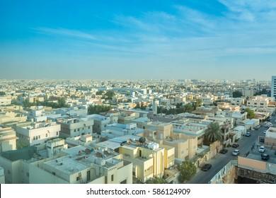 Riyadh, Saudi Arabia, January 12th, 2017, Aerial view of Riyadh with buildings