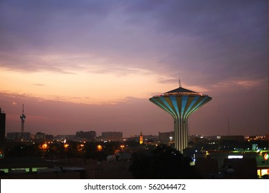 RIYADH, SAUDI ARABIA - January 21, 2017: Old Water Tower built in the 70s located in The National Museum park converted into an observation deck.