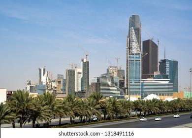 Riyadh, Saudi Arabia, KSA, Feb 01 2019, new buildings being constructed in the new King Abdullah Financial District