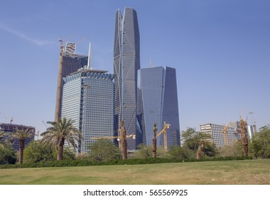 Riyadh, Saudi Arabia, KSA - Jan 26, 2017: Samba Financial Group's new building being constructed in the new King Abdullah Financial District in Riyadh