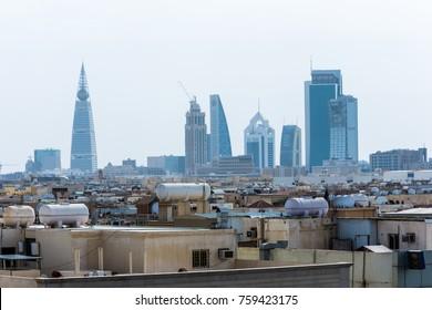 Riyadh, Saudi Arabia, KSA - November 21, 2017 Riyadh buildings being in Olaya in Riyadh