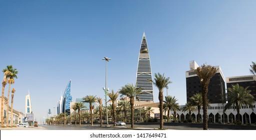 Riyadh, Saudi Arabia - November 11, 2017, King Fahd road