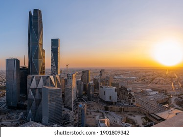 Riyadh Saudi Capital with it's Financial District that has the PIF Tower HQ