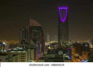 Riyadh, Saudi, KSA - Mar 9, 2017: Riyadh at night