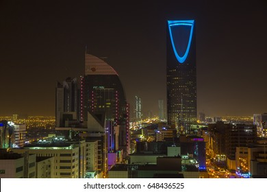 Riyadh, Saudi, KSA - Mar 9, 2017: Riyadh at night