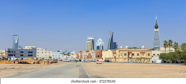 RIYADH, SAUDI-ARABIA - FEBRUARY 9, 2015: Riyadh Cityscape