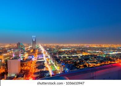 Riyadh skyline at night #10, Capital of Saudi Arabia