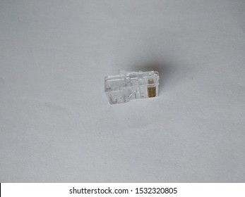 rj45 connector on the isolated background