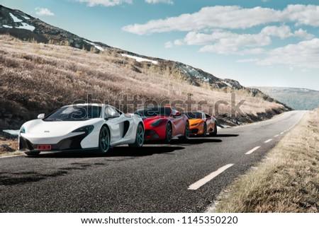 Rjukan Norway 04062016 White Mclaren 650 S Stock Photo Edit Now