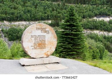 RJUKAN, NORWAY ON JULY 07. Landmark of The Heroes of Telemark sabotage in 1943, on July 07, 2010 in Rjukan, Norway. Norwegian resistance fighters in Operation Gunnerside.