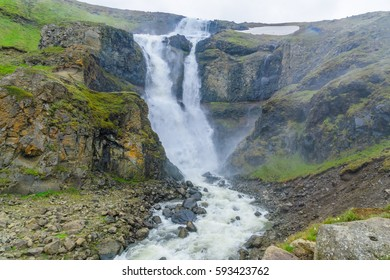 The Rjukandi waterfall on the Ring Road (1), near Egilsstadir, East Region, Iceland