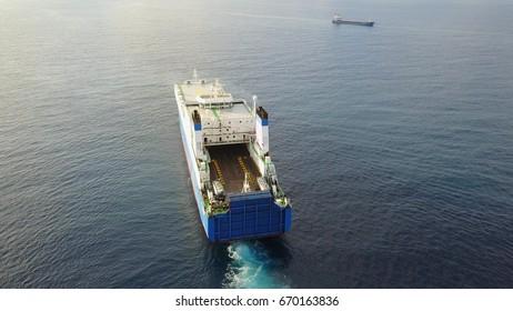 ro ro cargo cars ship