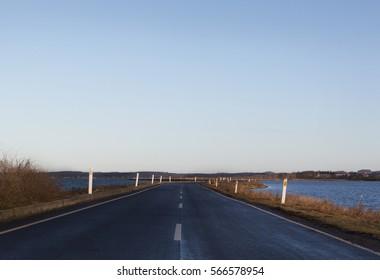The road to Helnæs,Denmark