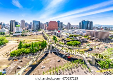 The road 7017 and architecture in Seoul Station, Seoul City South Korea