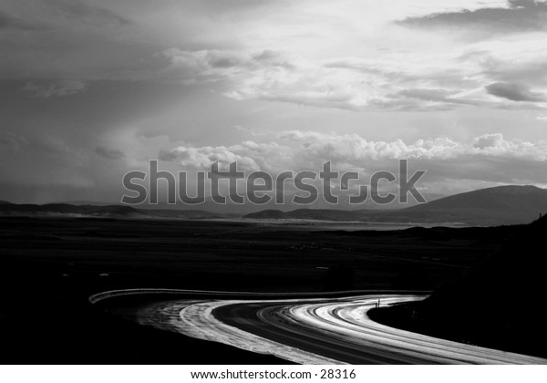 Road after rain.