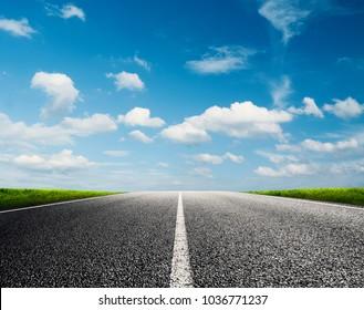 Road ahead into the future