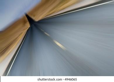 Road ahead - motion blur.